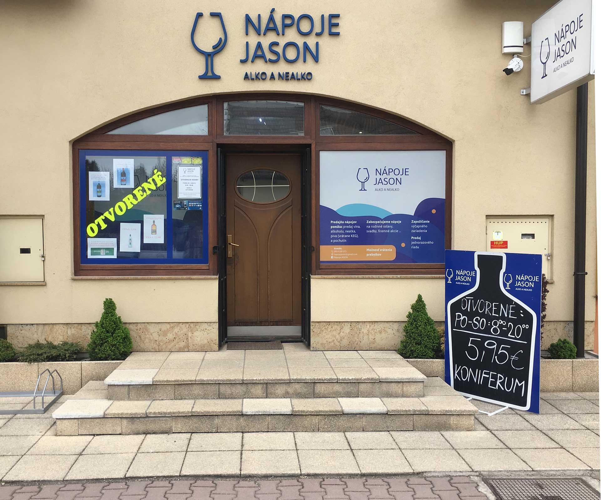 Nápoje Jason - Alko & Nealko - pobočka Rajec